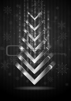 Abstract Christmas fir tree. Vector