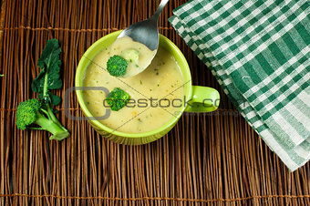 Green Cream broccoli soup