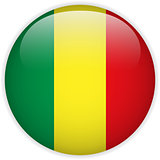 Mali Flag Glossy Button