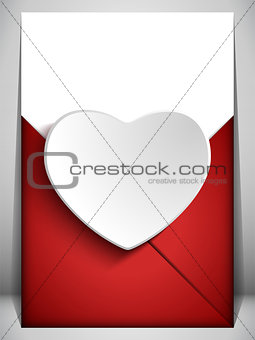 Valentine Day Heart Letter Love