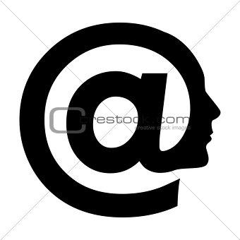 Abstract symbol of AT