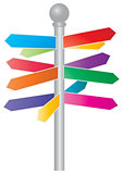 Direction Colorful Arrow Signs Illustration