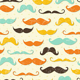 Mustache seamless pattern in vintage style