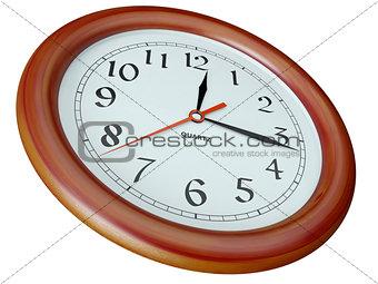 clock per a wooden frame