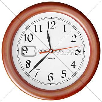 clock per a wooden