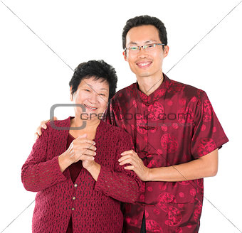 Asian Chinese family blessing