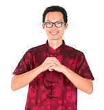 Chinese man greeting
