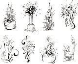 Stylistic flower designs
