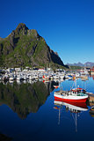 Harbor in Svolvear on Lofoten