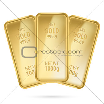 Three gold bars.