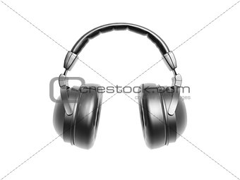 black headphone