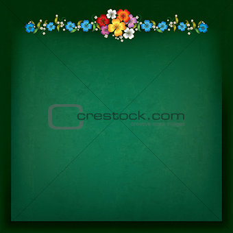 abstract background with floral composition