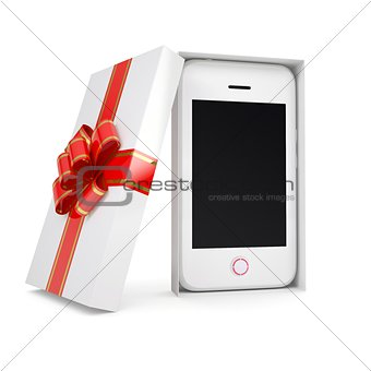 Smartphone in a gift box