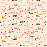 Seamless valentine background