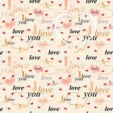 Seamless valentine background