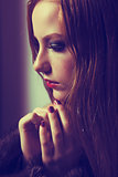 Plea. Confession. Sad Woman Praying. Grace. Sorrow and Hope