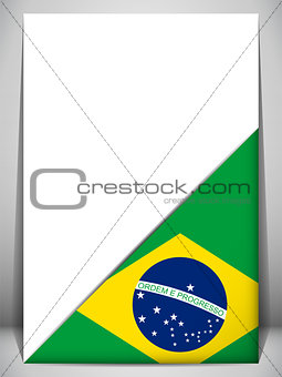 Brazil Country Flag Turning Page