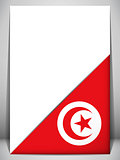 Tunisia Country Flag Turning Page