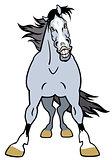 cartoon grey horse