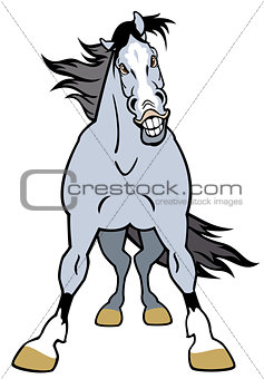 cartoon grey horse