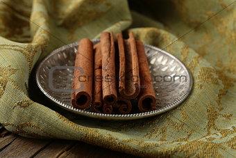 Cinnamon sticks and powder cinnamon