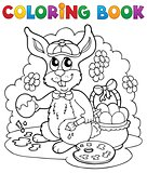 Coloring book rabbit theme 3