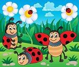 Image with ladybug theme 2