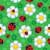 Seamless background flower theme 2