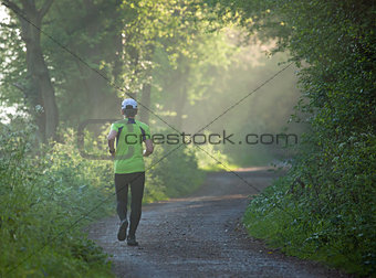 Runner on Footpath