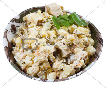 Russian stolichny salad