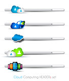 Cloud Computing themed headers or footers 