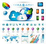 Infographic elements for cloud computing