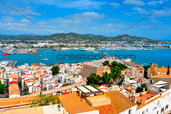 old town and port of Ibiza Town, Balearic Islands, Spain