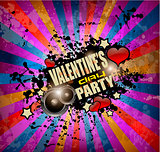 Valentine's Day party flyer background