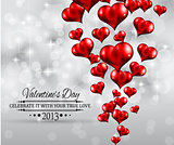 Valentine&#39;s Day party invitation flyer background