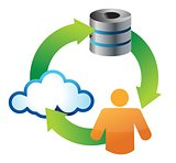 Cloud Storage Service Icon