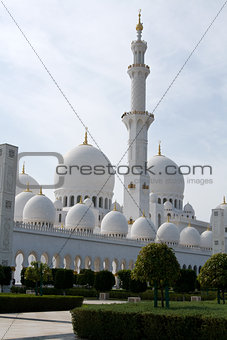 United Arab Emirates, Abu Dhabi - December 2012: Sheikh Zayed Mosque. The construction of this masterpiece of architecture was spent over 600 million euros