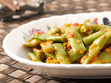 long beans in chili shrimp paste