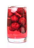 Cherry Compote with Berries in a Glass