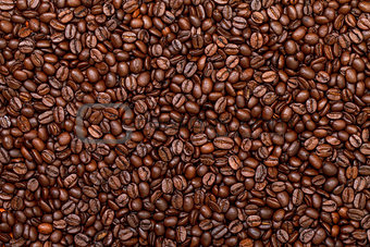 Background of Fresh Roasted Coffee Beans