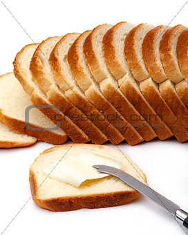 Slices of Wheat Bread with Butter
