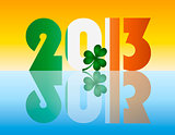 New Year 2013 Ireland Flag Illustration