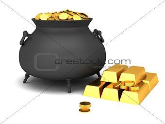 Cauldron of golden coins