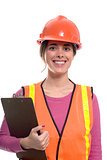 woman construction outfit