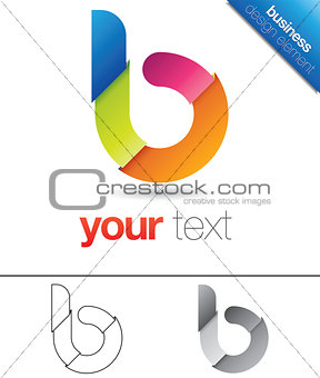 B Letter Design Element