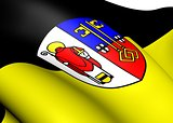 Flag of Krefeld, Germany.