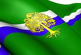 Flag of Nottinghamshire County Council, England.