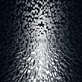 Abstract black geometric background.