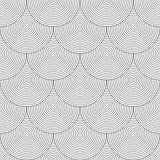 Seamless geometric texture. &quot;Fish scale&quot; design.