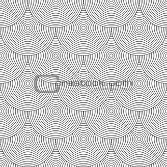 "Seamless geometric texture. ""Fish scale"" design."